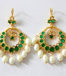 Buy BEAUTIFUL STONE STUDDED CHAND BALI Other online
