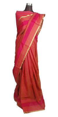 Pink Chanderi Cotton Saree