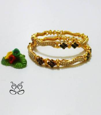 """Gold Plated Bangles 2'6"""""""