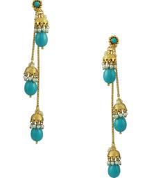 Buy Turquoise Blue Traditional Rajwadi Jhumki Earrings Jewellery for Women - Orniza jhumka online