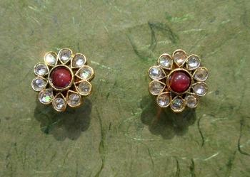 designer partywear earring vger 1147
