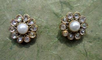 designer partywear earring vger 1148