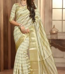 Buy White woven cotton_silk saree with blouse pongal-dhoti-saree online