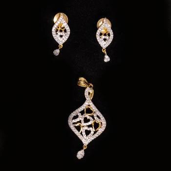 Beauty Cz  American  Diamond Earrings