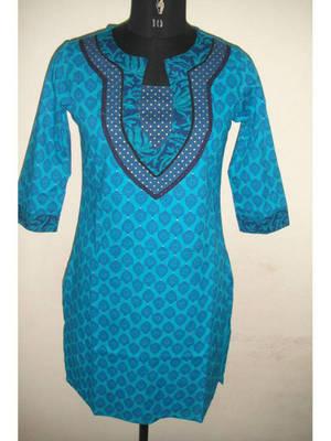 Blue coloured kurti