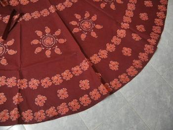 Hand Batik Printed Cotton Wrap Around Skirt
