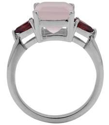Buy Sterling Silver Garnet and Rose Quartz Ring wedding-ring online