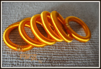 Lovely Yellow Silk Thread bangle