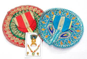 6.5'' Zari And Thread Work Poshak And Shringar