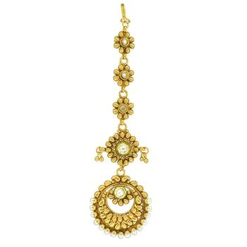 Ethnic Indian Bollywood Fashion Jewelry Set Zircon Maang Tikka