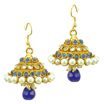 Ethnic Indian Bollywood Fashion Jewelry Set Traditional Chandni Dangler Earrings