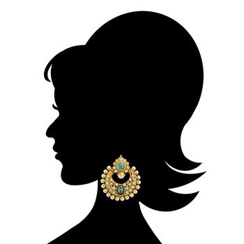 Ethnic Indian Bollywood Fashion Jewelry Set Dangler Earrings