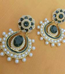 Ethnic Indian Bollywood Fashion Jewelry Set Pearl Bead Dangler Earrings