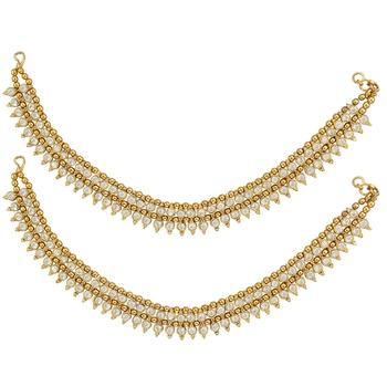 Ethnic Indian Bollywood Fashion Jewelry Set Glowing Anklet Set