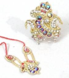 Buy Rainbow Stone Stud Mukut And Necklace For Ladoogopal housewarming-gift online