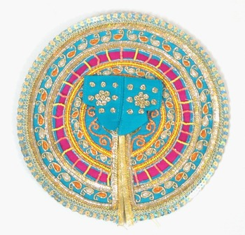 4.5'' elegant turquoise chakra ladoogopal poshak