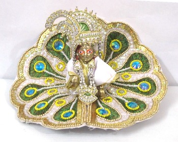 Ladoo Gopal in,9.5''(dia.) Mor pankh Shringar