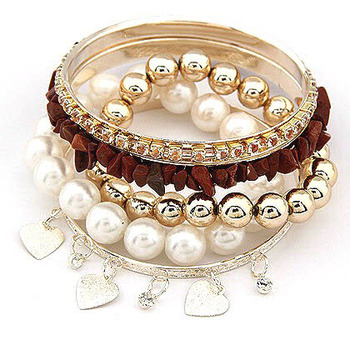 Stone and Pearl Banges Set