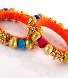 Buy Designer Ball and Ghughari Kada bangles-and-bracelet online
