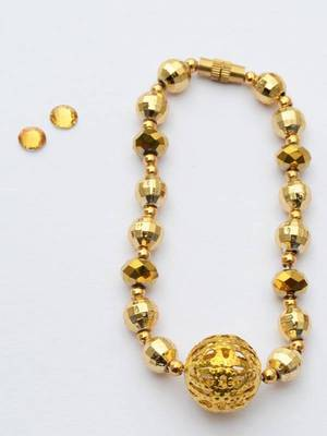 Janmasthasmi Special -  Jhilmil Golden Neckpiece & Earring
