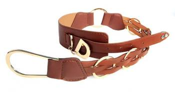 Just Women - Saddle Brown Womens Leather Belt