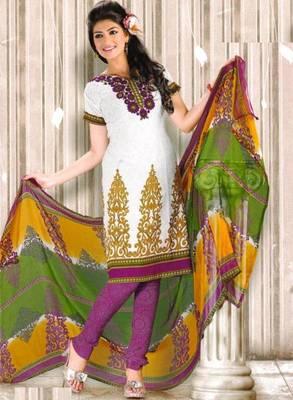 Crepe dress material elegant designer unstitched salwar suit d.no RG1021