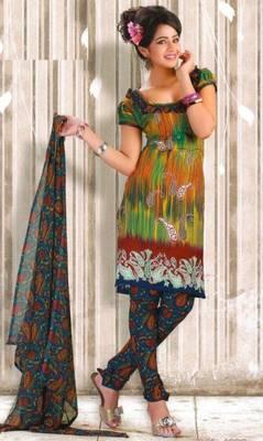 Crepe dress material elegant designer unstitched salwar suit d.no RG1032
