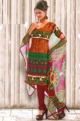 Crepe dress material elegant designer unstitched salwar suit d.no RG1033