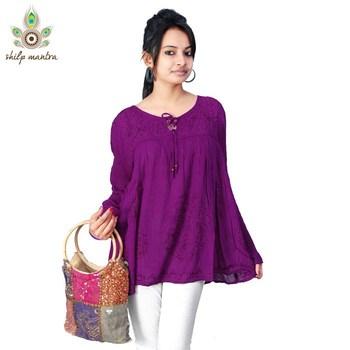 d2982a2f2 Indian Bollywood Style Trendy Beautiful Ethnic Designer Tunic Top Kurti  Kaftan Kurta - Shilpmantra - 74237