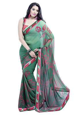 Bollywood elegant georgette saree with silk blouse piece d.no 11012A