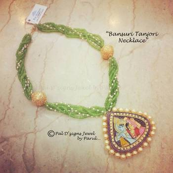 Bansuri Tanjori Necklace