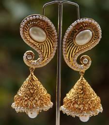 Buy PEARL GOLD PAISELY JUMKA jhumka online