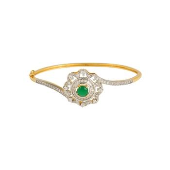 Floral Green Stone Bracelet