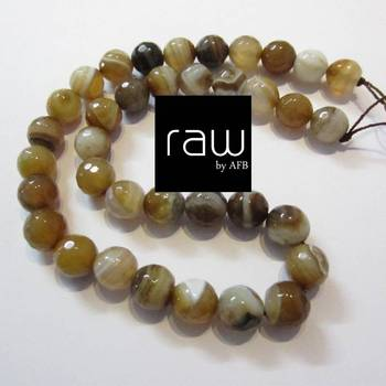 Banded Agate 's Semi Precious Beads
