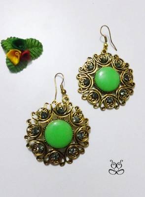 Fashion Earring - Green
