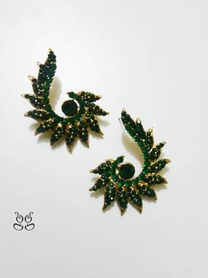 Fashion Earring- Green