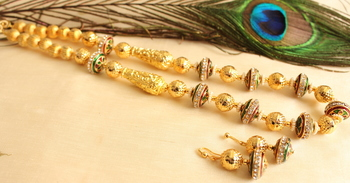 Beautiful Handmade Meenakari Balls Designer Necklace Set