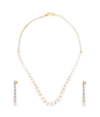 Aradhyaa Elegant American Diamond Necklace Set