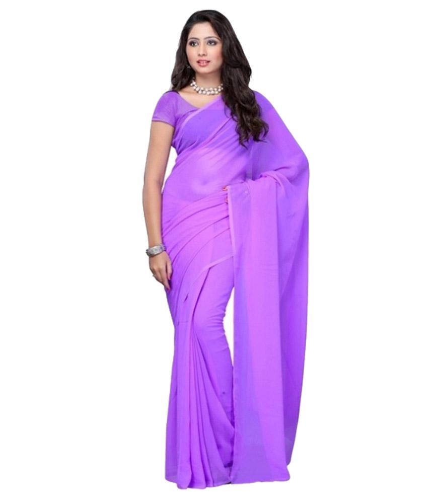 Sarees Price Below 400 Rs Online Shopping Best Kemeja Lavender Multicolor Shop At Velvet