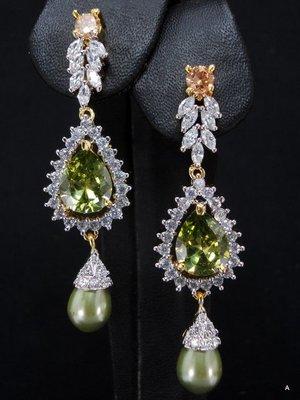 Green CZ Ear ring