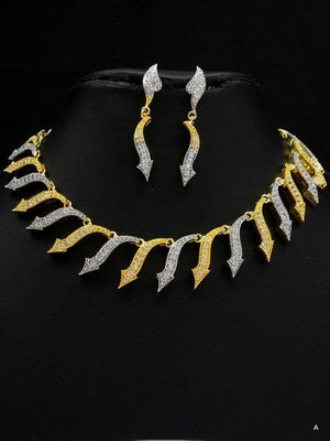 Very elegant CZ necklace set.