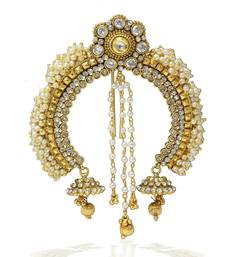 Buy Pearl & Stone Design Indian Wedding Designer Hair Pin (Ambada) hair-accessory online