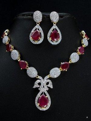 Eye catching CZ necklace set,