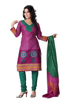 Cotton Bazaar Casual Wear Pink  Colored Cotton Dress Material