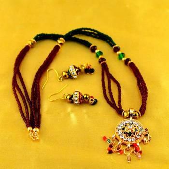 Moti Mala Mangalsutra With Earing