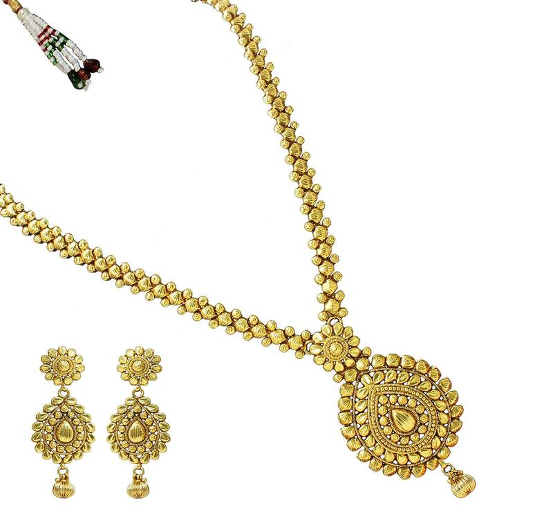 Buy Long Antique & Traditional Gold Design Beautiful Immitation ...
