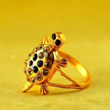 gold stone platted ring