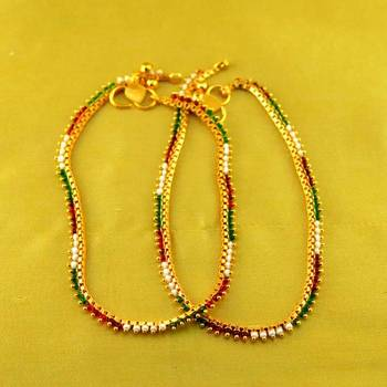 """micro platted anklet size-10""""inch"""