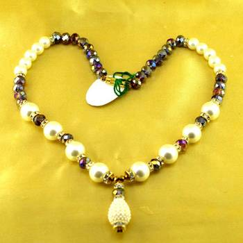 "Beads Polki Kundun Moti Mala Size-17""Inch"