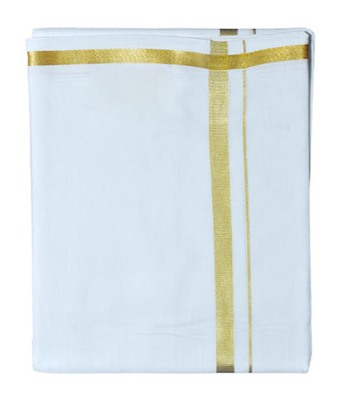 Mens dhoti with gold border